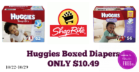 OMG!!! Huggies BOXES Only $10.49 at Shop Rite 10/22 – 10/28