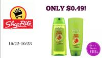 Garnier Fructis Shampoo/Conditioner ONLY $0.49 at ShopRite (10/22-10/28)