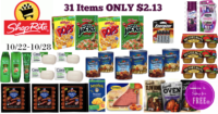 WOWZA!! 31 Items for ONLY $2.13 at Shop Rite (10/22-10/28)