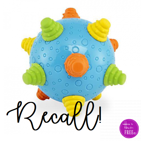 "Toys""R""Us Recalls Infant Wiggle Balls Due to Choking Hazard"