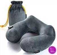**Lightning Deal** Purefly Soft Velvet Inflatable Travel Neck Pillow ~ 79% off!!