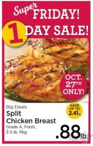 Split Chicken Breast only $.88 lb at Roche Bros! ~ October 27th ONLY