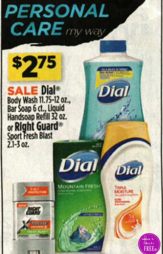 Dial Body Wash or Liquid Hand Soap Only $1.37!