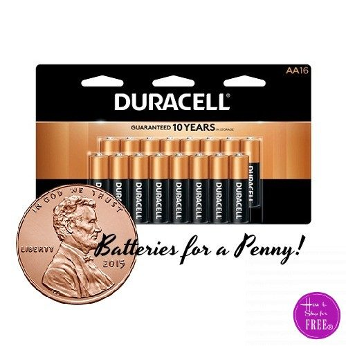 Pick Up 16ct. Duracell Batteries… for 01¢