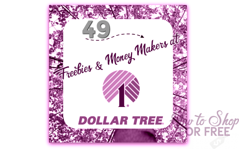 49 FREEBIE DEALS at Dollar Tree!! (1/7-13)