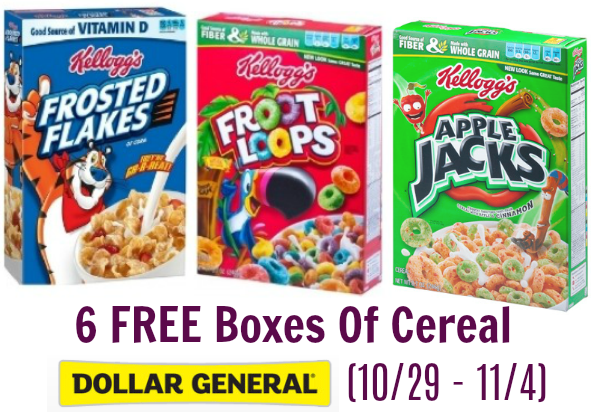 *UPDATE* 6 FREE Boxes of Kellogg's Cereal