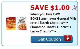New Printable Coupon – $1/2 General Mills Cereal ~ + Deal match-ups