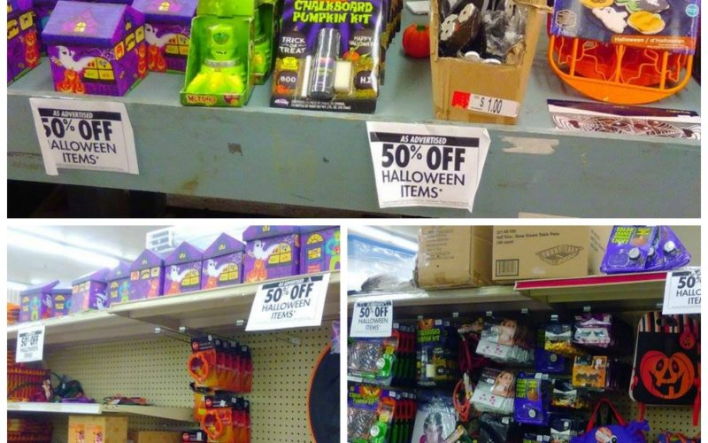 Halloween is ALREADY 50% OFF at Job Lot!!!