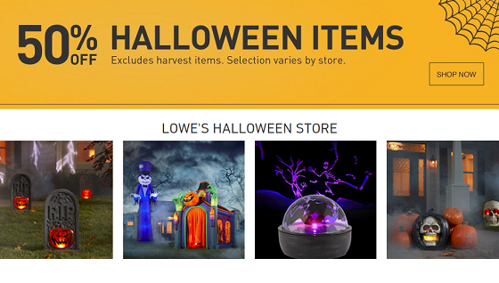 50% Off Clearance on Halloween Items at Lowe's!