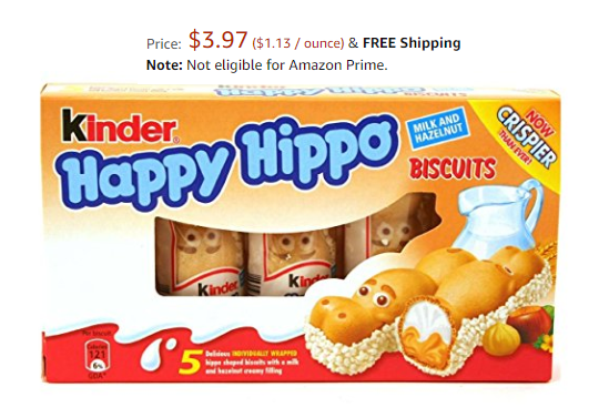 Yum! Kinder Hippo Hazelnut Biscuits Only $3.97 Shipped!