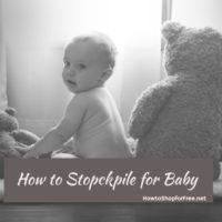 How to Stockpile for Baby Diapers and more