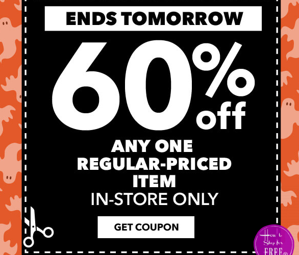 WOW 60% off Joann's Coupon! **Last Day!**