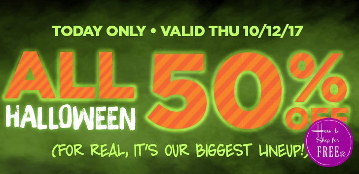 Today Only~ 50% OFF Everything #Halloween!!