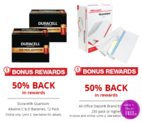 50% OFF Duracell Batteries & Envelopes from Office Depot!