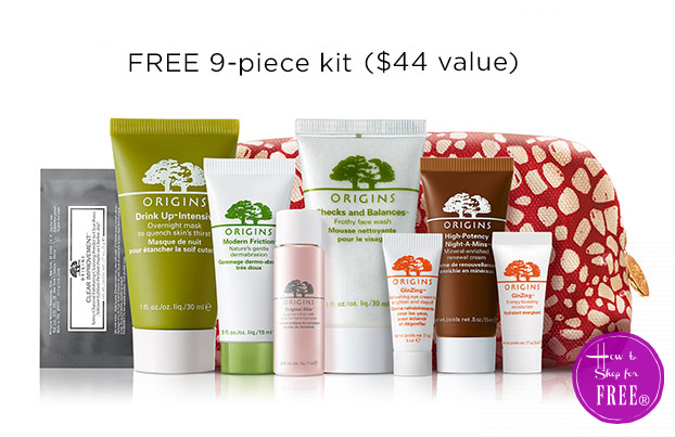 FREE 9pc. Origins Skincare Kit!
