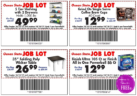 Job Lot Store Coupons~ NEW for this week! (10/12-18)