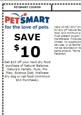 Natural Balance Dog Food Coupons >> More Free Dog Or Cat Food W Petsmart Printable Coupon