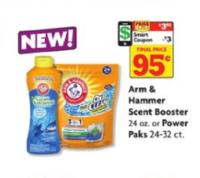 Arm & Hammer Scent Booster or Power Paks Only $.95 at Family Dollar