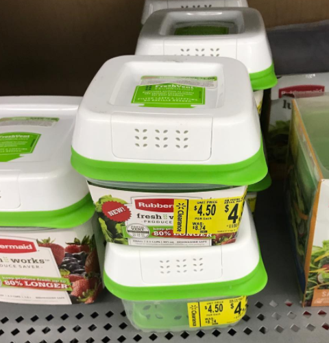 Free+$1.00 OVERAGE on Rubbermaid Containers!