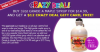 32oz. Maple Syrup ONLY $3!!! (Reg/$15)