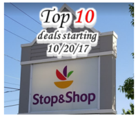 Top 10 deals starting Friday, 10/20 at Stop & Shop!