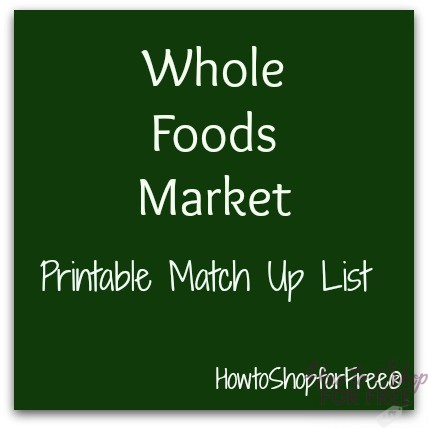 Whole Foods Market Coupon Match Ups – Nov 8 – 14