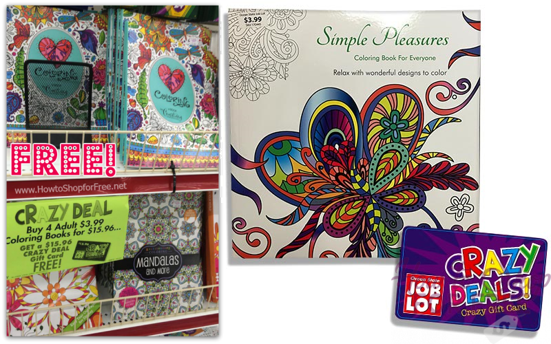 FREE Adult Coloring Books at Job Lot!! **LAST DAY**
