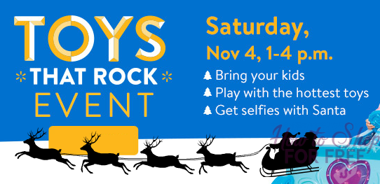 """FREE """"Toys That Rock"""" Event, Today from 1-4pm~ Get a #Santa Selfie!"""