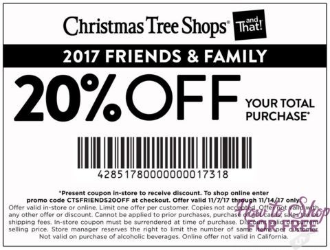 RARE~ Christmas Tree Shops Total Purchase Coupon!