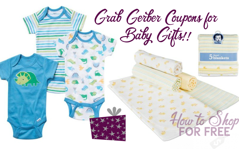 $9 in Gerber Gear Coupons~ Save on Clothing & Blankets!