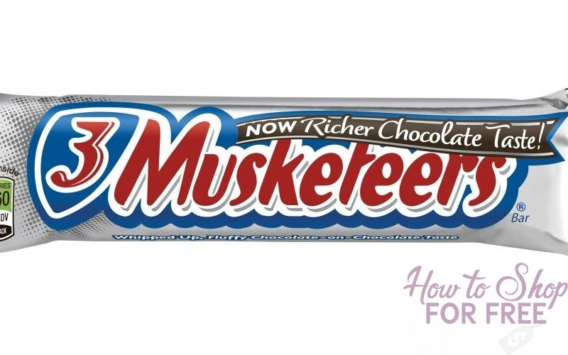 46¢ for 3 Musketeers at Dollar Tree w/ HOT BOGO Q!