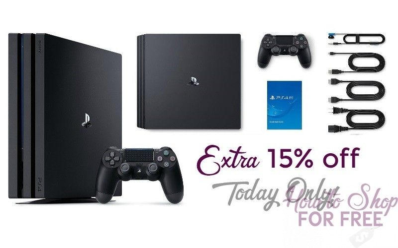 EXTRA 15% off PS 4 Pro 1TB Console~ Today Only!