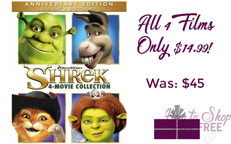 Shrek: 4 Movie Collection 67% OFF!! (Blu-ray) WOW, Best Price!
