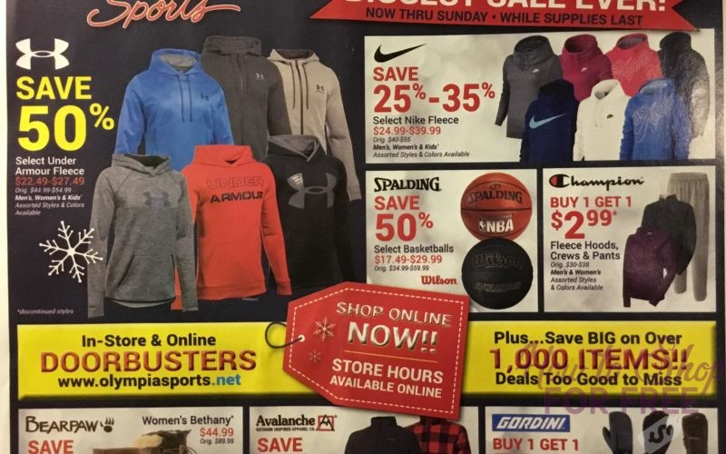 Olympia Sports 2017 Black Friday Ad Scan