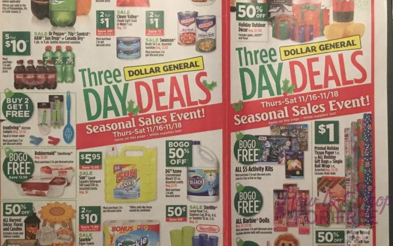 Dollar General Ad Scan 11/12 – 11/18