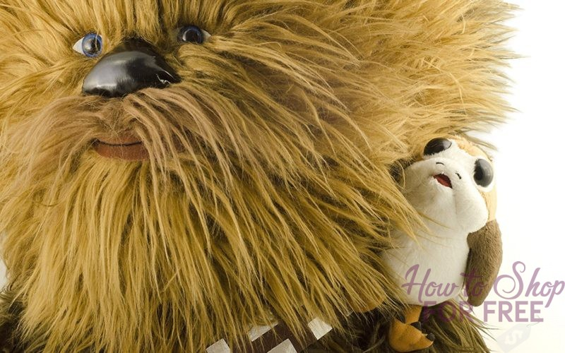 50% OFF 24″ Talking Chewbacca + Porg, Today Only!