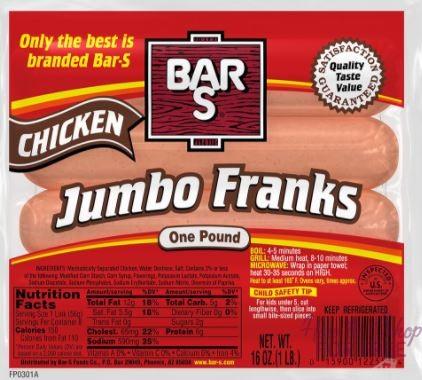 Bar-S Jumbo Meat or Chicken Franks ONLY 49¢ at Market Basket 11/12 ~ 11/25!