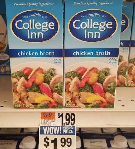 Confirmed – MM on College Inn Broth!!!