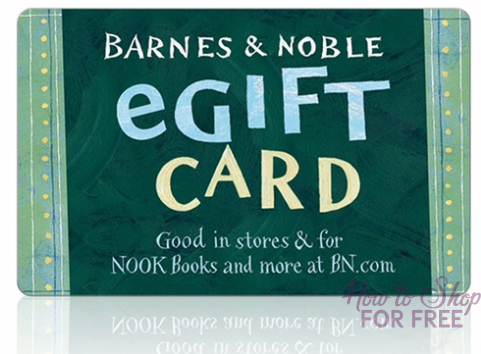 $10 Barnes & Noble Gift Card ONLY $4.50