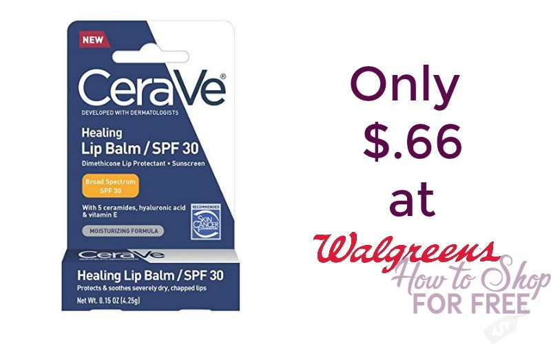 Cerave Lip Balm Only $.66 at Walgreen's