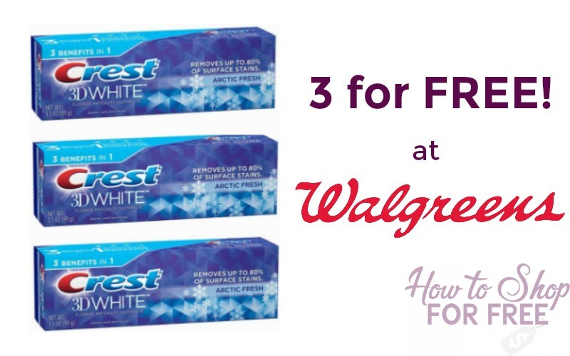 3 FREE Crest 3D White Toothpastes!!