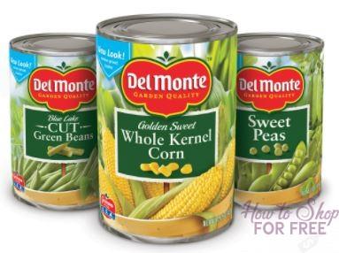 Del Monte Vegetables ONLY 48¢ at Market Basket 11/12 ~ 11/25!
