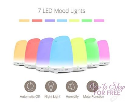 **Lightning Deal** Essential Oil Diffuser – 65% off ~ ONLY $10.49