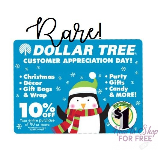 Save 10% at Dollar Tree on 11/19 with Coupon!!