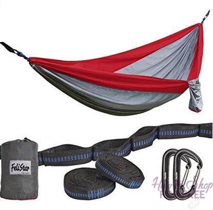 **Lightning Deal**  Portable Parachute Nylon Camping Hammock – 75% off ~ ONLY $15.00!!
