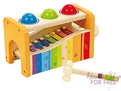 Save $10 on Hape Pound & Tap Bench with Slide Out Xylophone ~ Today ONLY!