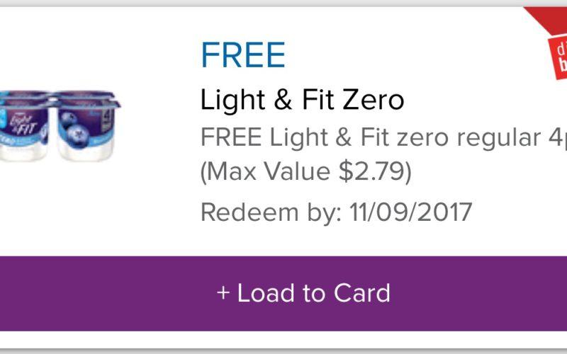 FREE Light & Fit Yogurt 4 Packs – Check your accounts!