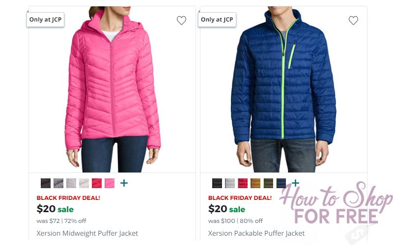 Men's & Women's Puffer Jackets Only $20!