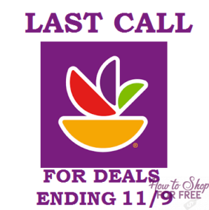 LAST CALL List for Stop & Shop deals ending 11/9! Get them while you can!