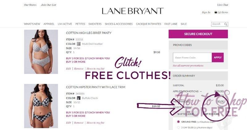 LANE BRYANT GLITCH: FREE CLOTHES!